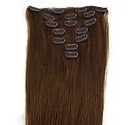 20-дюймовые 7pcs 70g клип в наращивание волос человеческого человеком прямо многих доступных цветов