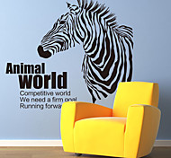 Wall Stickers Wall Decals, Animal World Zebra PVC Wall Sticker