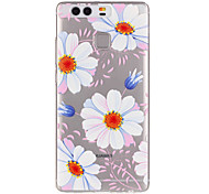 Pink Daisy Flower Pattern Embossed TPU Case for P9/ P9 Lite