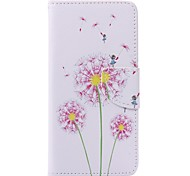 Pink Dandelion Painted PU Phone Case for Huawei P9/P9lite