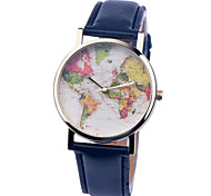 Vintage Watch Map Leather Watch Womens Watch Ladies Watch Mens Watch Unisex Watch