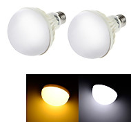 YouOKLight® 2PCS E27 9W CRI>70 15*SMD5630 600LM  Warm White 3000K Cold White 6000K LED Globe Bulbs (AC220-240V)