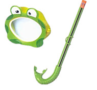 Fun Frog Mask Combination Goggles Breathing Tube +