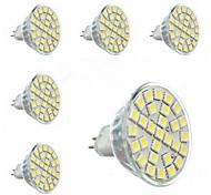 Lâmpadas de Foco de LED GU5.3(MR16) 5W 440 LM 6000-6500 K Branco Frio 29 SMD 5050 6 pçs AC 220-240 V MR16