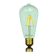 Bombillas LED de Globo Regulable / Decorativa NO ST64 E26 / E26/E27 3W 4 COB 200-300 lm Blanco Cálido AC 100-240 / AC 110-130 V 1 pieza