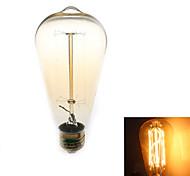 1 pezzo Zweihnder E26/E27 40W 1 COB 500 lm Bianco caldo ST64 edison Vintage Lampadine LED a incandescenza AC 110-130 V