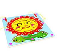 Wooden circular orbit magnetic brush handling maze --Sunflowers Maze