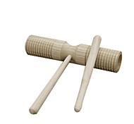 древесина желтый двойной цилиндр для детей старше 3 музыкальные инструменты, игрушки