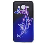 ultradünnen Miniatur tpu lila Schmetterlingsmuster weiche rückseitige Abdeckung für Samsung-Galaxie grand prime / G530