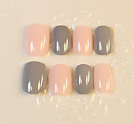 1set  Grandma Gray Artificial False Nail Tips