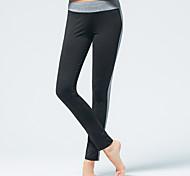 Pantaloni da yoga Pantalone/Sovrapantaloni Traspirante Naturale Elastico Abbigliamento sportivo Nero Per donnaYoga Pilates Esercizi di