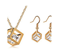 Beautiful Cubic Zirconia Jewelry Set Necklace/Earrings for Female