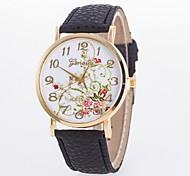 orologio quadrante dell'orologio nuovo quarzo della cinghia semplice peonia signore