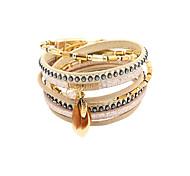 Bracelet Charmes pour Bracelets / Bracelets Wrap / Bracelets en cuir Cristal / Alliage / Cuir / Strass / Plume Mode / Vintage / Style Punk