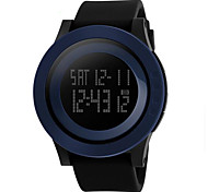Men's Watch Unisex Military Sports LCD Digital Rubber Band Waterproof Watch Cool Watch Unique Watch