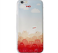 cas tpu souple avec motif d'impression 3D pour iPhone 6 / iphone 6s / iphone 6s 6 plus en plus / iphone chat rouge