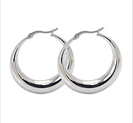 Earring Oval Jewelry Women Fashion Party / Daily / Casual Titanium Steel 1 pair Gold / Yellow Gold