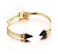 Women's Fashion Arrow Gold Stainless Steel Cuff Bracelet