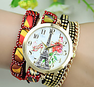 Women's European Style Fashion New High Heels Roses Tower Wrapped Bracelet Watch