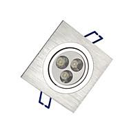 3W Lampes Encastrées 300 lm Blanc Chaud / Blanc Froid LED Haute Puissance AC 100-240 V 1 pièces