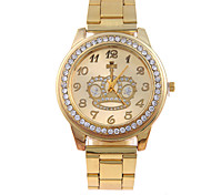 Women's Casual Fashion Strip Golden Crown Trend Quartz Watch