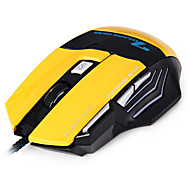 AJAZZ MX7 Bumblebee 2400DPI LED Optical 7D USB Wired Gaming Mouse for PC (Yellow)