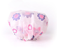 Women  Shower Cap Bath Shower Reusable Clear  Hair Cover Spa Salon Care