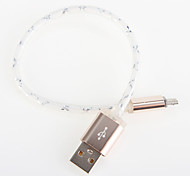 Light Aluminum  USB for Samsung Android Smartphone General Cable (0.25 M)