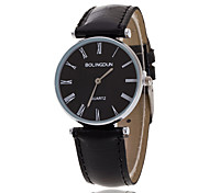 Men's Luxury Black/Brown Leather Band Black Case Military Sports Style Watch Jewelry Wrist Watch Cool Watch Unique Watch