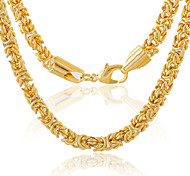 The New Fshion Men's Alloy / Gold Plated Necklace Chain / Wedding / Party / Daily / Casual / Sports / 55cm / 4mm