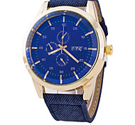 Men's Denim Canvas Outdoor Casual Quartz Watch Wrist Watch Cool Watch Unique Watch