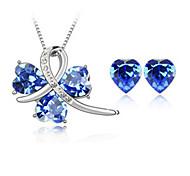 Schmuck Halsketten Ohrringe Braut-Schmuck-Sets Kristall Geburtssteine Hochzeit Party Krystall 1 Set Damen Hochzeitsgeschenke