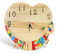 Holz Katze Uhr