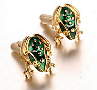 Men's Fashion Frog Design Gold Alloy French Shirt Cufflinks (1-Pair)