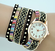 Women's European Style Fashion New Bohemian Ethnic Style Wrapped Bracelet Watch