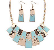 Alloy / Resin / Rhinestone Jewelry Set Necklace/Earrings Party / Daily / Casual 1set