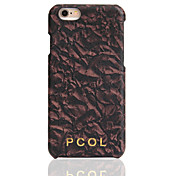 PCOL® Hand-made Dead Leaves pattern Cowhide Leather Mobile Phone Protection Shell for iphone 6/6S/6 plus/6S plus