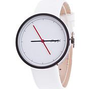 Mulheres Assista Quartz Relógio de Moda LED / Relógio Casual Couro Banda Relógio de Pulso Preta / Branco
