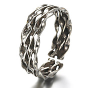 Antique Silver Vintage Style Hollow Open Band Midi Ring for Men/Women Jewelry