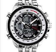 SKMEI® Men's Japanese Quartz Silver Steel Band Water Resistant Calendar Dress Watch Jewelry