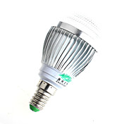 Zweihnder W463 E14 3W 280LM Warm White/White Light LED Beads Points Cover Energy-Saving Bulbs