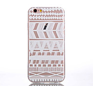 Para Funda iPhone 6 / Funda iPhone 6 Plus Transparente / Diseños Funda Cubierta Trasera Funda Líneas / Olas Suave TPUiPhone 6s Plus/6