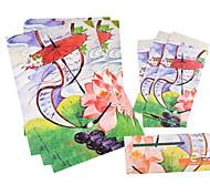 antiga carta set envelope (3 envelope 6 artigos de papelaria, artigos de papelaria envelope 8,6 * 17,6 centímetros, 18,5 * 26cm, teste