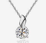 Fashion Cubic Zirconia Necklace Pendant Necklaces Daily / Casual 1pc