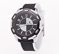 Unisex European Style Fashion Casual Sport Silicone Quartz Wrist Watch
