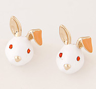Women Boutique Fashion Sweet Cute Little Bunny Rabbit Stud Earrings