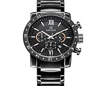 Masculino Relógio Elegante Quartz LED / Calendário / Relógio Casual / Cronômetro Aço Inoxidável Banda Prata marca