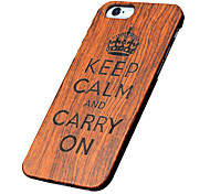 147 Case Cover Ultra-thin Other Back Cover Case Word / Phrase Hard Wooden for Apple