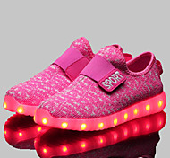 Girls' Shoes Athletic / Casual Comfort / Novelty Synthetic Fashion Sneakers Black / Blue / Pink / Red