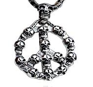 Men's Fashion Punk Style Skull Titanium Pendant for Necklace